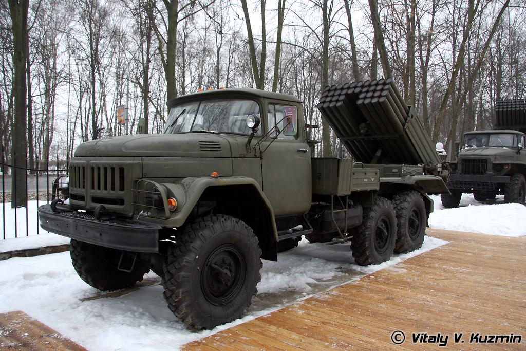 «Град-1» 9К55 на базе ЗиЛ-131 (Grad-1 MLRS on ZiL-131 chassis)