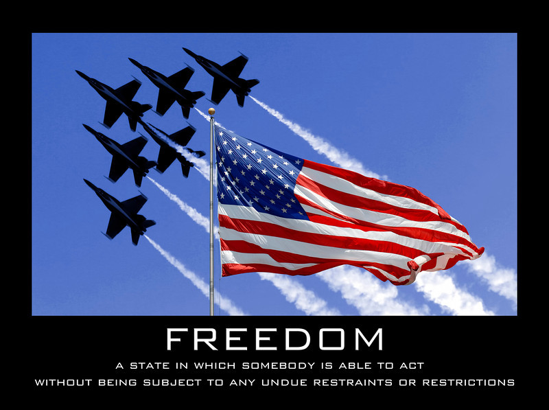 Freedom - Blue Angels and American flag