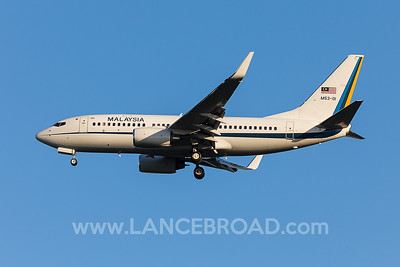 Malaysia Air Force 737-700 M53-01 - BNE