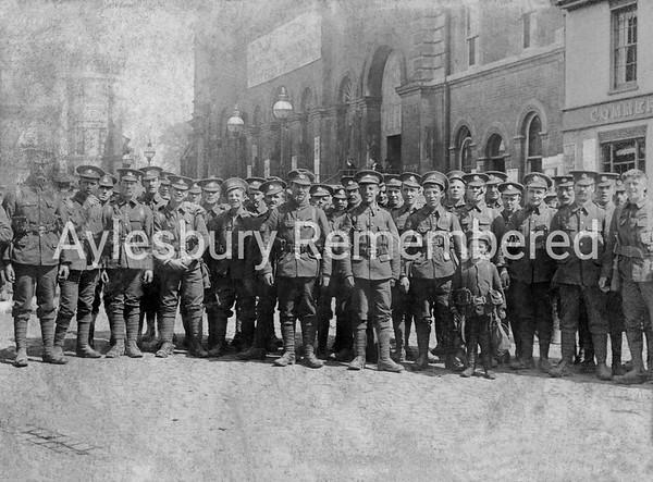 Essex Regiment in Market Square during WWI