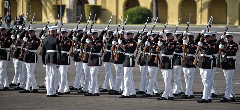 Silent Drill Platoon in San Diego.