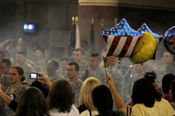 Spc. Miles McGreehan; Home from Iraq, November 6, 2010