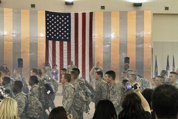 1st Brigade Combat Team, 1st Armored Division, HHC Special Troops Battalion marches into the hall