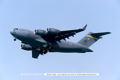 US Air Force Boeing C-17 Globemaster from Hickam AFB visited Townsville and performed in the flying display.