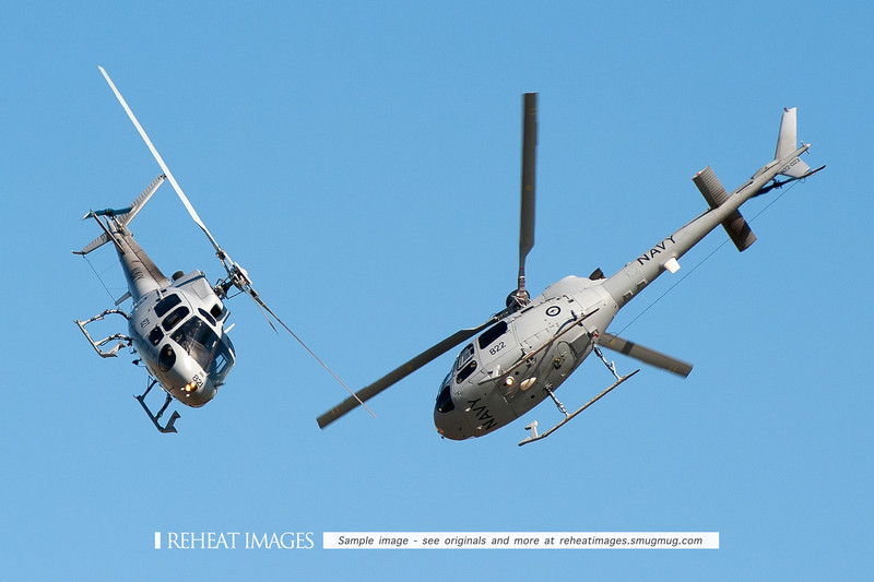 RAN 723 Squadron Helicopter Display Team, AS350BA Squirrel helicopters