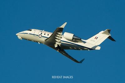 RAAF Challenger jet at Sydney airport.