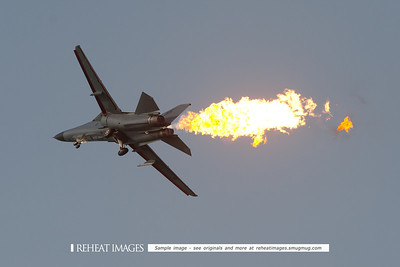 "General Dynamics RF-111C A8-126 at Australian Defence Force Air show 2009 in Townsville performing the famous ""dump and burn"" display."