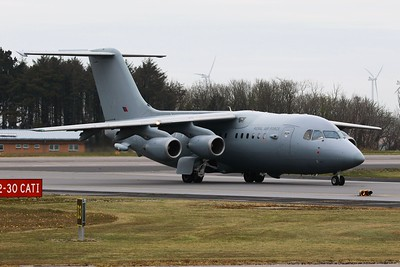 ZE708 British Aerospace BAe 146 C3 @ Newquay Airport 21.04.16