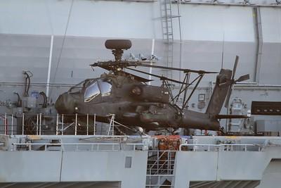 ZJ200 Boeing WAH-64D Apache AH1 - On the flight deck of HMS Ocean 28.09.15