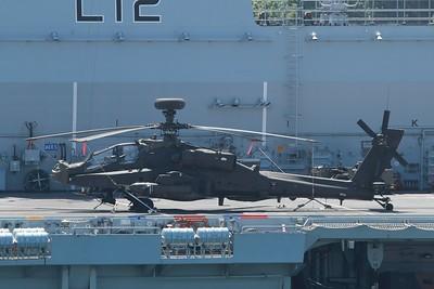 ZJ179 Boeing WAH-64D Apache AH1 - On the flight deck of HMS Ocean 27.05.15