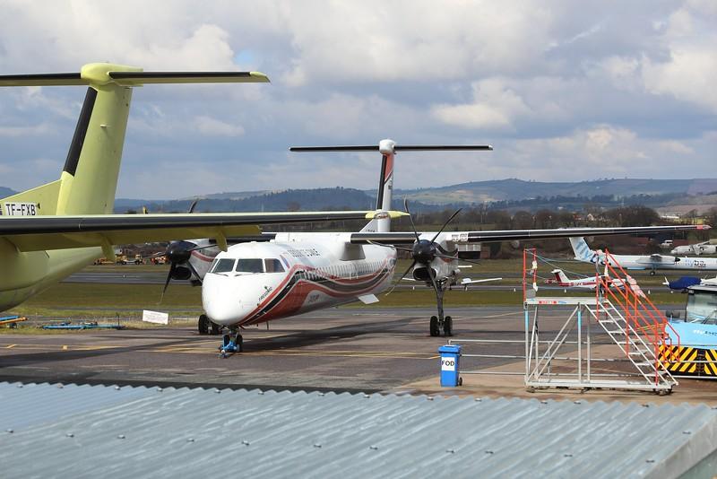 F-ZBMD / 74 Securite Civile De Havilland Canada DHC-8-400Q MR @ Exeter Airport 16.03.16