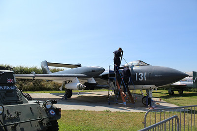 XJ580 De Havilland Sea Vixen FAW2 @ Tangmere Military Aviation Museum 09.07.13