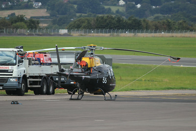 ZJ255 / 55 Aerospatiale / Eurocopter AS350BB Squirrel HT1 @ Exeter Airport 22.08.14