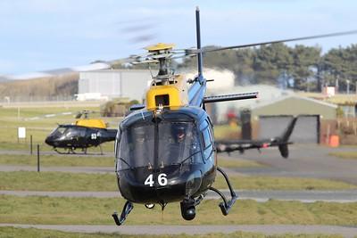 ZJ246 / 46 Eurocopter AS350 Squirrel HT2 @ RAF St Mawgan 15.02.16
