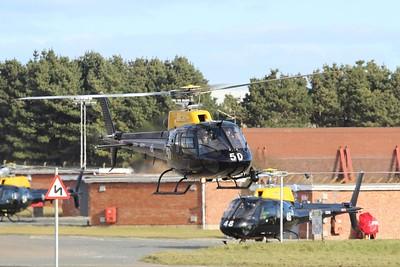ZJ250 / 50 Eurocopter AS350 Squirrel HT2 @ RAF St Mawgan 15.02.16
