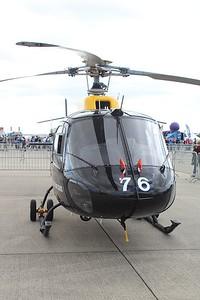 ZJ276 / 76 Aerospatiale / Eurocopter AS350BB Squirrel HT1 @ RNAS Yeovilton 11.07.15