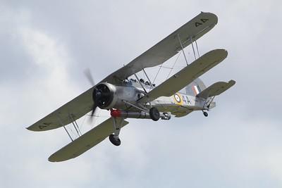 W5856 Fairey Swordfish MKII @ RNAS Culdrose 30.07.15