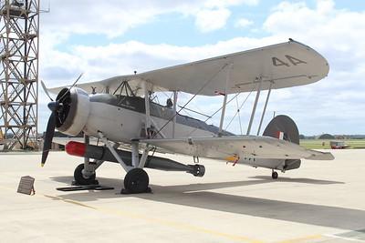 W5856 Fairey Swordfish MKII @ RNAS Yeovilton 11.07.15
