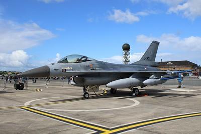 J-871 General Dynamics F-16AM Royal Netherlands Air Force / Koninklijke Luchtmacht @ RNAS Yeovilton 02.07.16