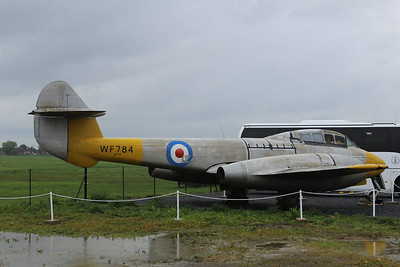 WF784 Gloster Meteor T7 @ Jet Age Museum 27.04.14