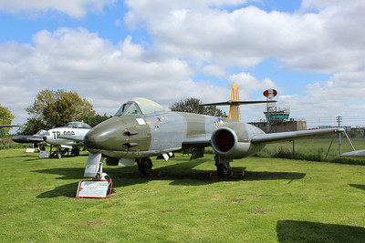 WK654 Gloster Meteor F8 @ City of Norwich Aviation Museum 25.05.13