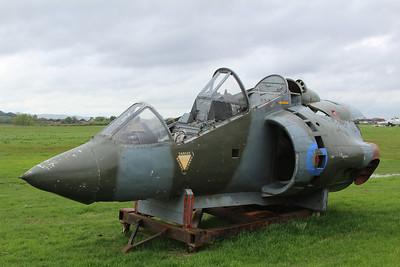 XW264 Hawker Siddeley Harrier T2 @ Jet Age Museum 27.04.14