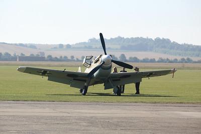 Black 1 Hispano HA-1112 M1L Buchon G-AWHE @ Duxford 08.09.12