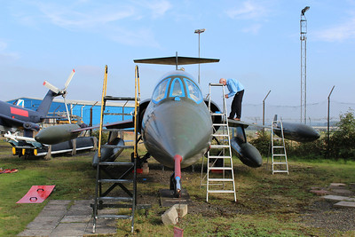 R-756 Lockheed F-104G Starfighter Royal Danish Air Force @ Midland Air Museum 24.09.13