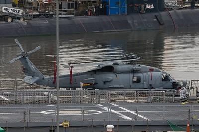 HS.23.11 (01-1011) Sikorsky SH-60B - On the Flightdeck of Spanish Navy Frigate ESPS Reina Sofia @ HMNB Devonport 11.03.17