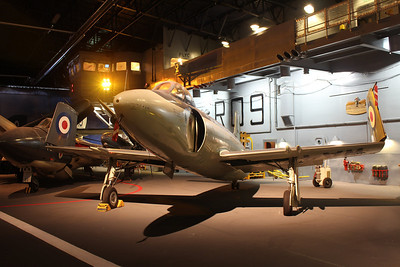 WA473 Vickers Supermarine Attacker F1 @ Fleet Air Arm Museum 30.05.14