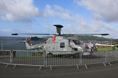 XZ731 / 322 Westland Lynx HMA8SRU on display on Plymouth Hoe 30.06.12