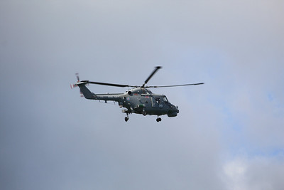 XZ698 / 348 Westland Lynx HAS3S flying over Plymouth 08.08.11