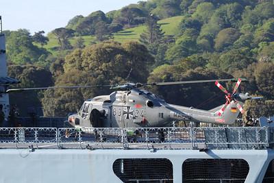 83+24 Westland Super Lynx Mk88a - On the flight deck of FGS Luebeck 26.05.14