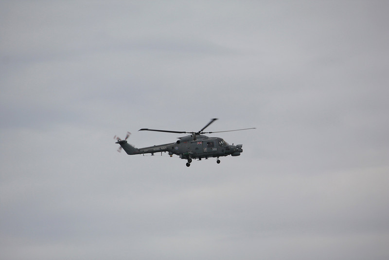 XZ729 / 350 Westland Lynx HMA8 Lynx helicopter from HMS Cumberland 16.04.11