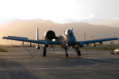 Sun sets on an A-10 Thunderbolt II. With Night Vision Imaging Systems, or NVIS, goggle compatible single-seat cockpits forward of their wings and a large bubble canopy which provides pilots all-around vision, time of day means little to this aeronautical legend.