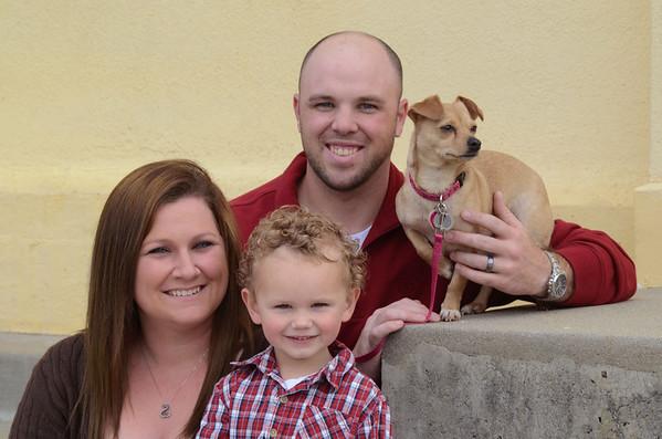 Burke Family ::John, Hannah, Hunter & Abby the dog