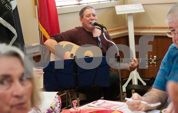 Musician David Jennings of Dallas performs during the Watkins-Logan Texas State Veterans Home Sweetheart Luncheon Friday Feb. 12, 2016.   (Sarah A. Miller/Tyler Morning Telegraph)