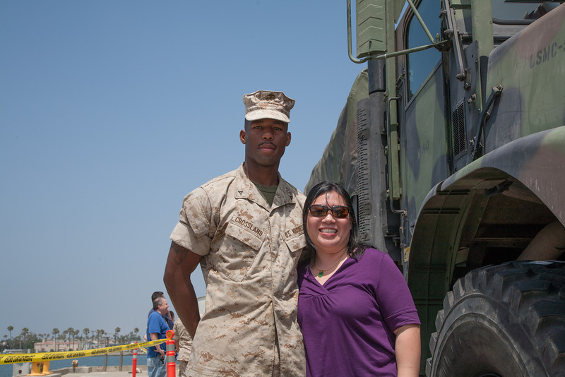 Lydia and a Marine