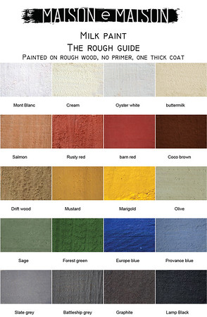 color chart milk paint maison e maison rough guide