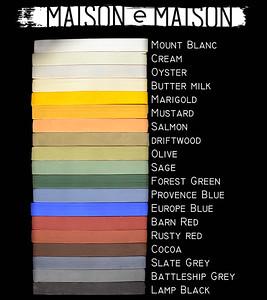 color chart milk paint by Maison e Maison