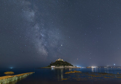 Milky Way Galactic Core Over St Michaels Mount - 4