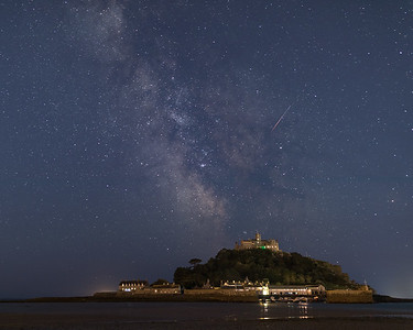 Milky Way Galactic Core Over St Michaels Mount - 2