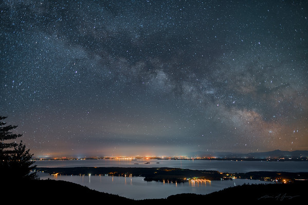 Milky Way over Lake Champlain