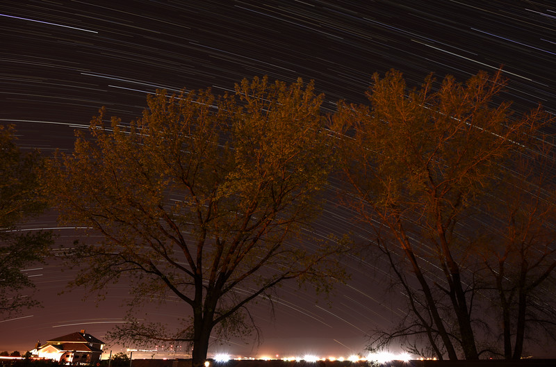 Airport Star Trails