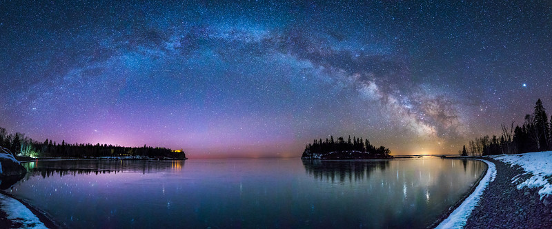 Milky Way Over Split Rock Lighthouse State Park