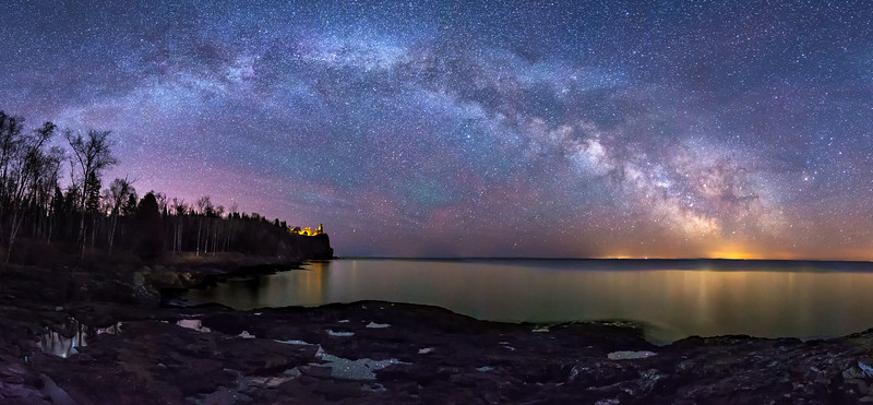 Milky Way Over Split Rock Lighthouse