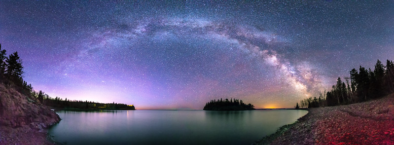 Milky Way Over Split Rock Lighhouse State Park