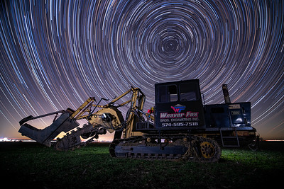 Tile Trencher Star Trails