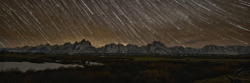 Night Falling on the Tetons