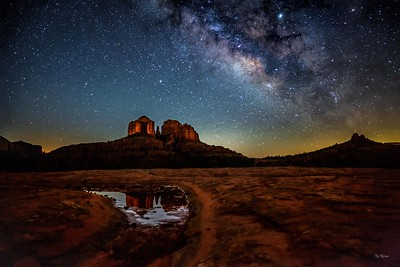 Milky Way and Reflecting Pond